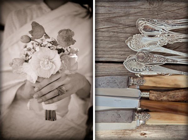 vintage wedding flatware