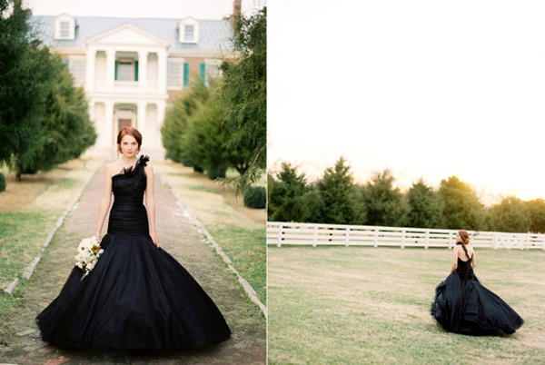 black romona keveza wedding gown
