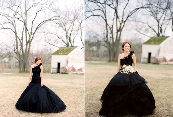 black wedding dress1
