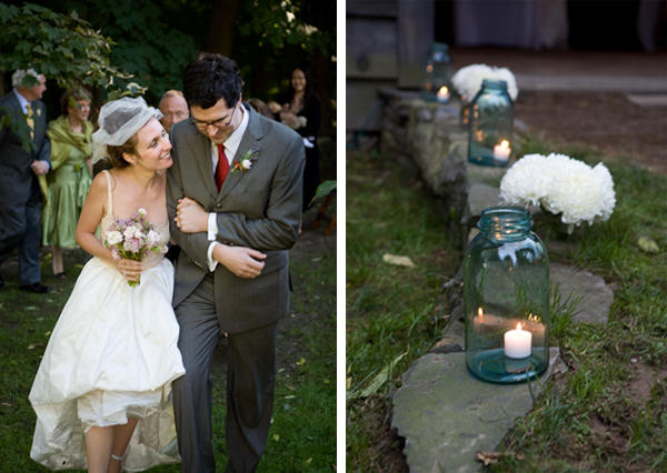 blue mason jars wedding