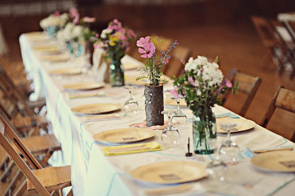 A diy michigan wedding ii once wed Cheap table decoration ideas