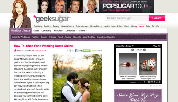 geek sugar press once wed
