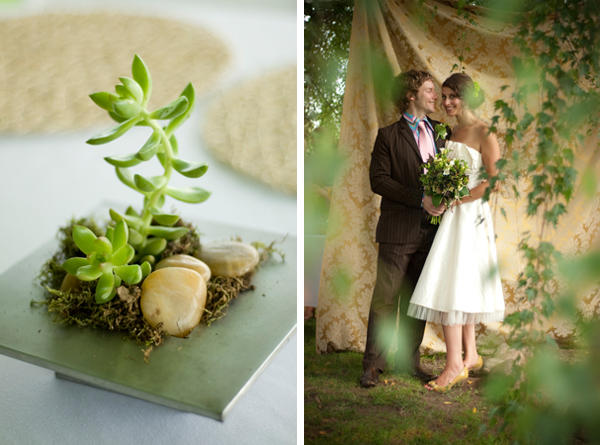 green wedding centerpiece ideas
