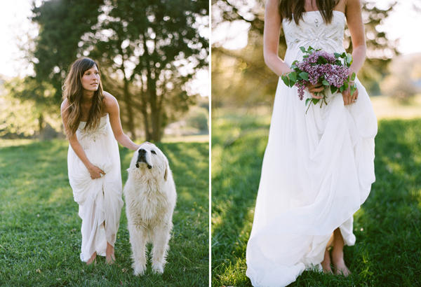 Farm fresh wedding once wed for White and lilac wedding dress