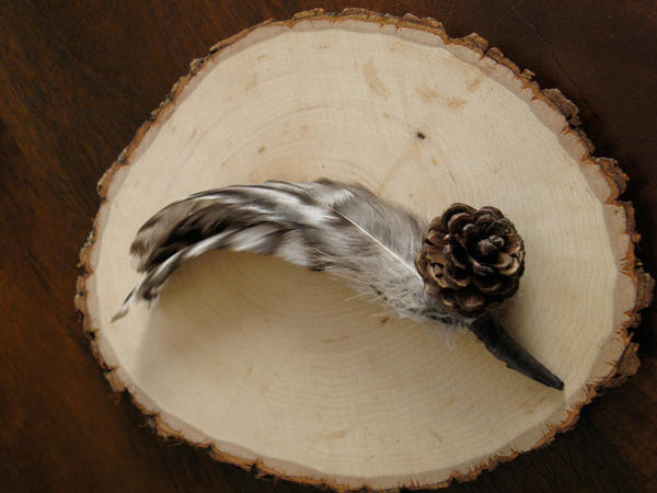 pinecone wedding boutonniere