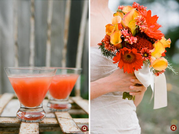 red wedding bouquet ideas