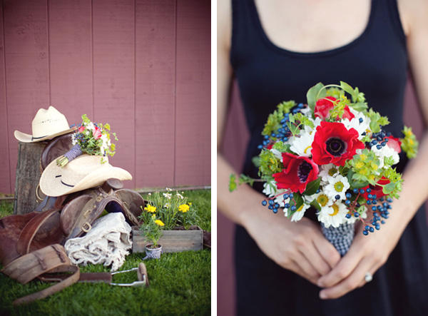red-white-blue-wedding-bouquet - Once Wed