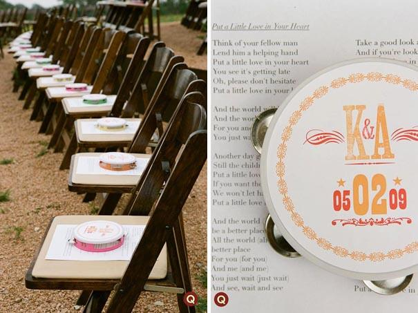 tamborine wedding favors