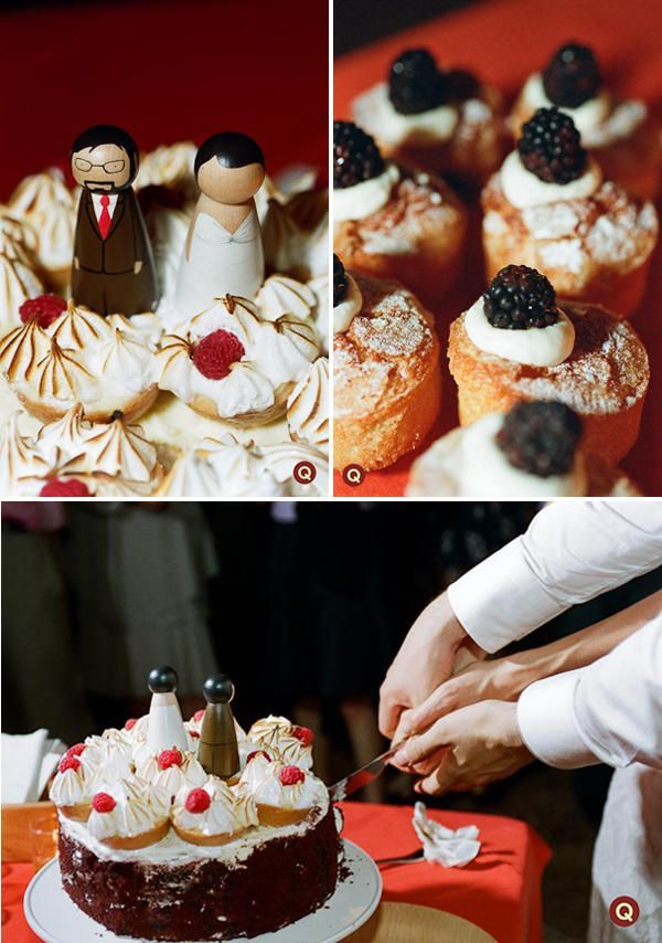 tart wedding cake