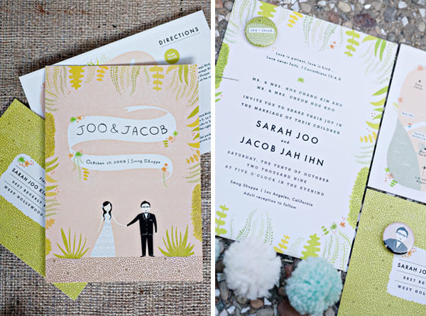 the smog shoppe wedding invitations