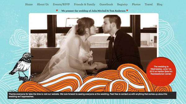 You can sign up at Wedding Jojo for free and create your own wedding website