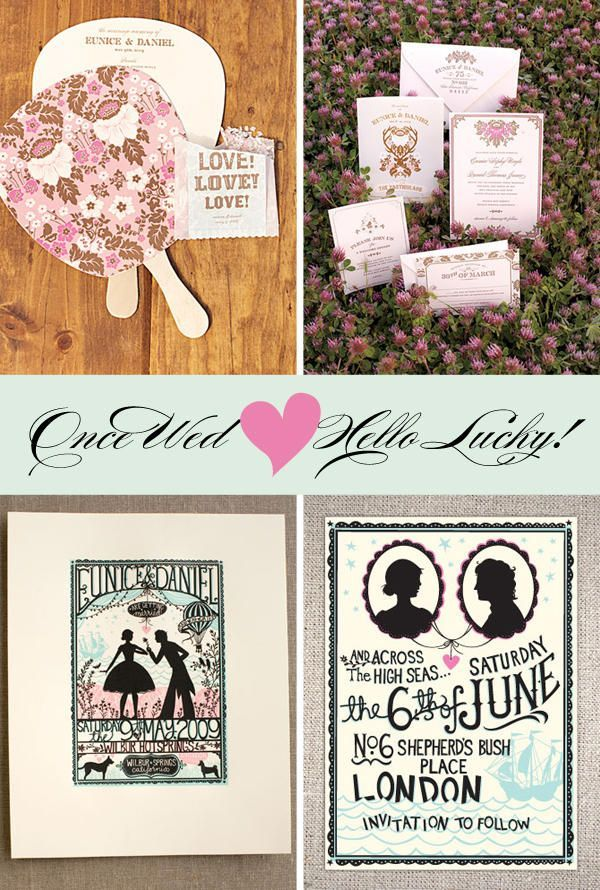 hello lucky wedding invtations