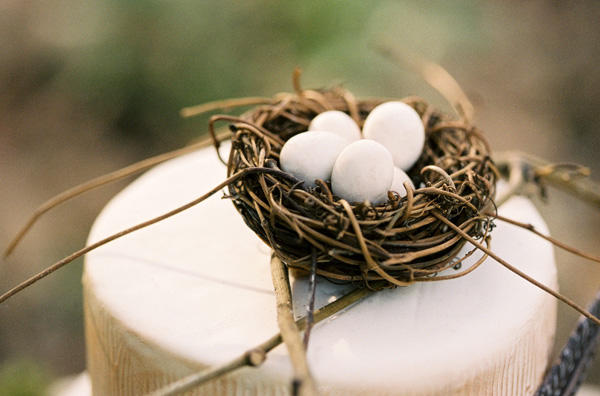 Bird Wedding Cake Birdsnest Cake Topper