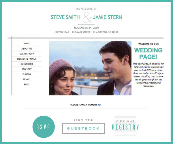 Custom Wedding Website1