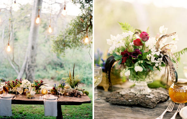A Forest Wedding Tablescape Once Wed