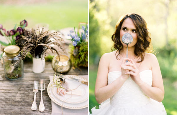 Feather Wedding Reception Table