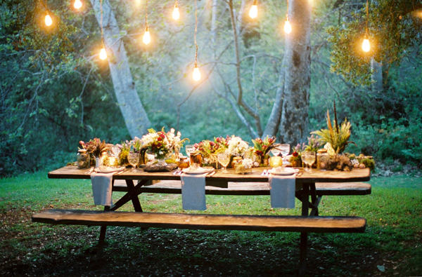 Forest Wedding Reception Table Ideas