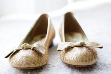 Gold Flat Wedding Shoes