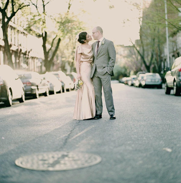 Mocha Silk Vintage Wedding Dress