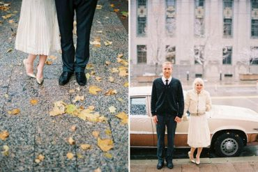 Vintage City Hall Wedding