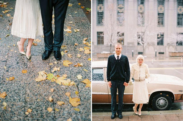 A Vintage City Hall Wedding