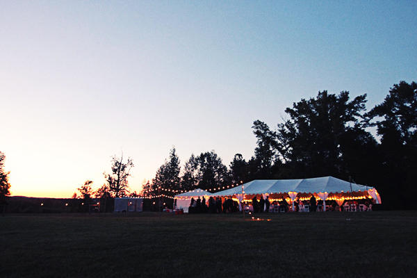 Virginia Farm Outdoor Wedding Reception