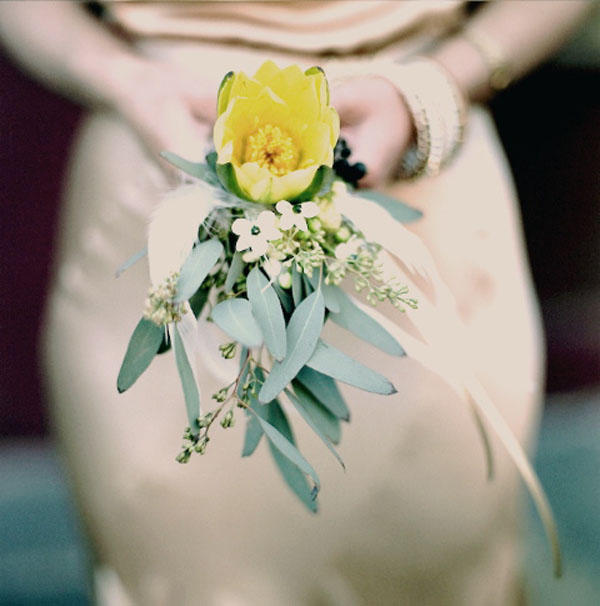 Yellow Green Wedding Bouquet