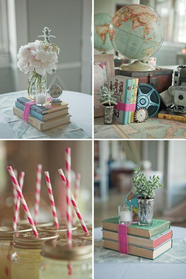 Book Wedding Centerpiece Ideas