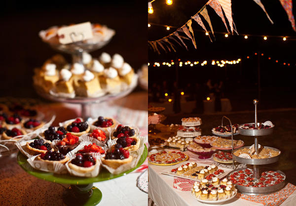 Cherry Wedding Desserts
