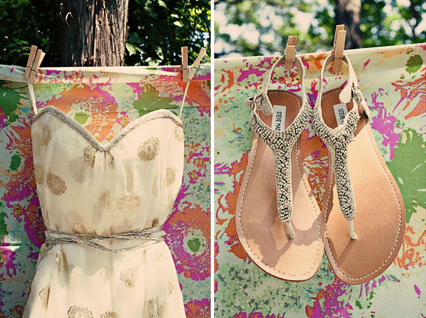 Gold Wedding Sandals