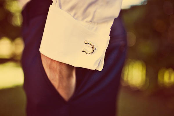 Horseshoe Wedding Cufflinks