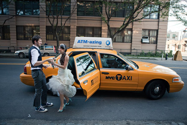 New York Cab Wedding
