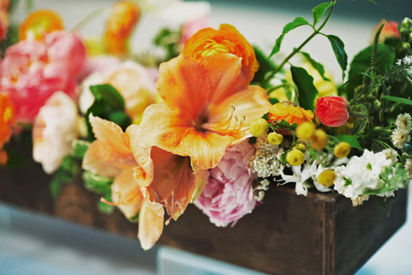 Orange Pink Wedding Centerpieces