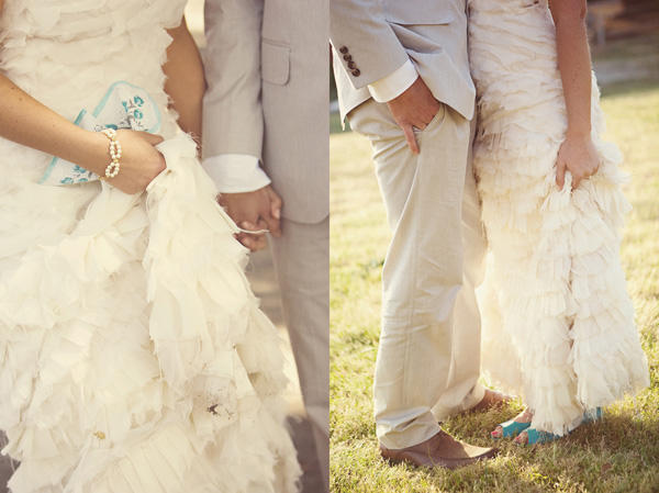 Ruffle Layer Wedding Dress