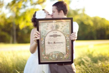 Vintage Marriage Certificate