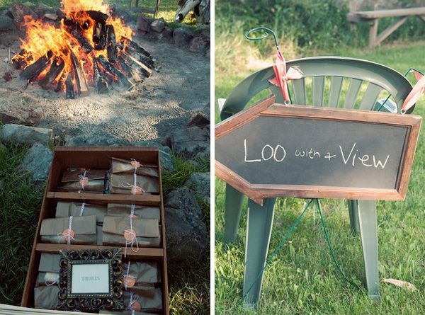 Diy Wedding Bonfire Smore Ideas