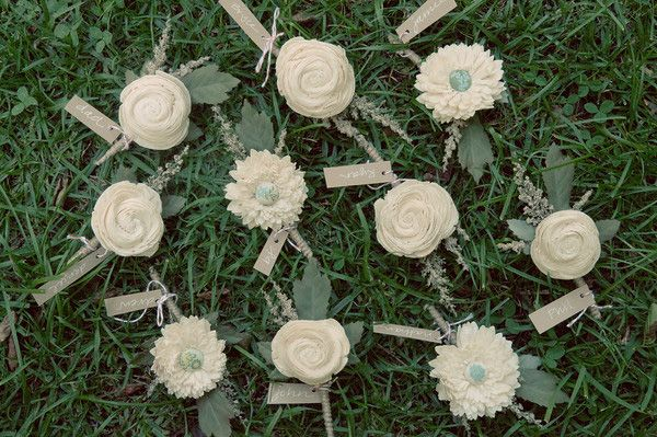 Diy Wedding Boutonnieres Once Wed