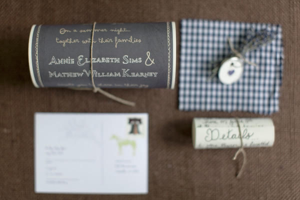 Gingham Wedding Invitations