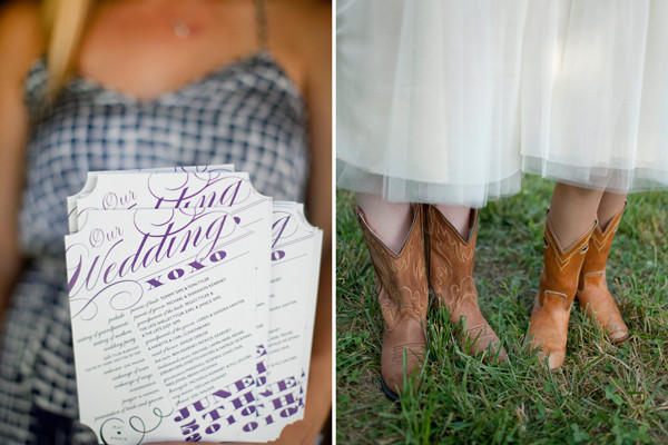 gingham-wedding-programs