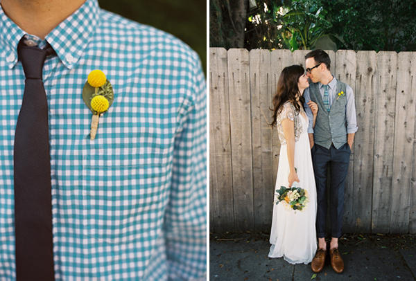 Gingham Wedding Shirt