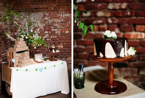 Unique Wedding Cake Table
