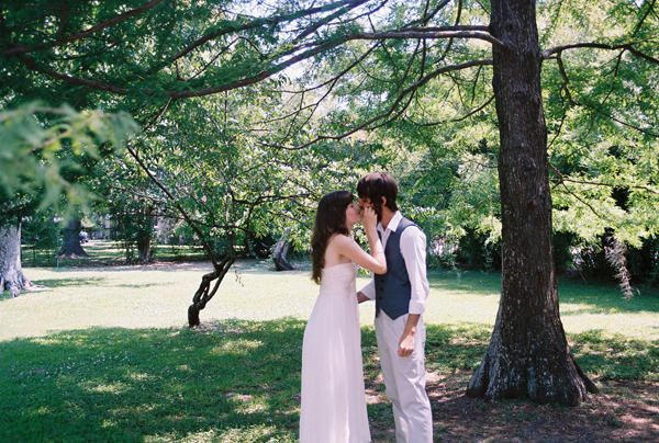 Wedding Elopement Kiss