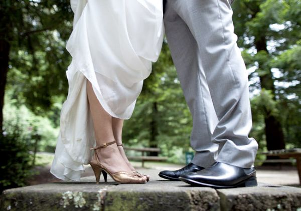 Bronze Wedding Shoes