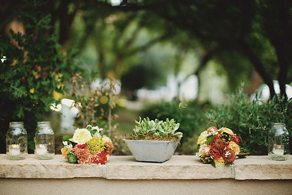 Country Western Cactus Centerpieces Diy Wedding Table Setting