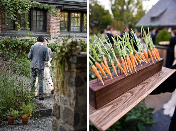 Farm Wedding Carrot Vegetable Decor