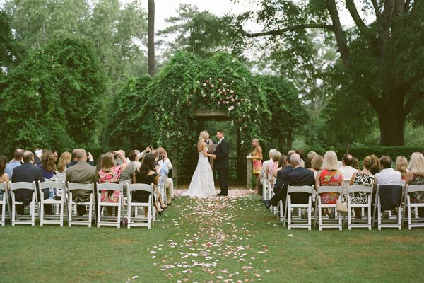 Simple Outdoor Ceremony Decorations: Pretty Garden Wedding