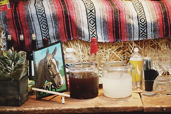 Horse Barn Hay Wedding Ideas