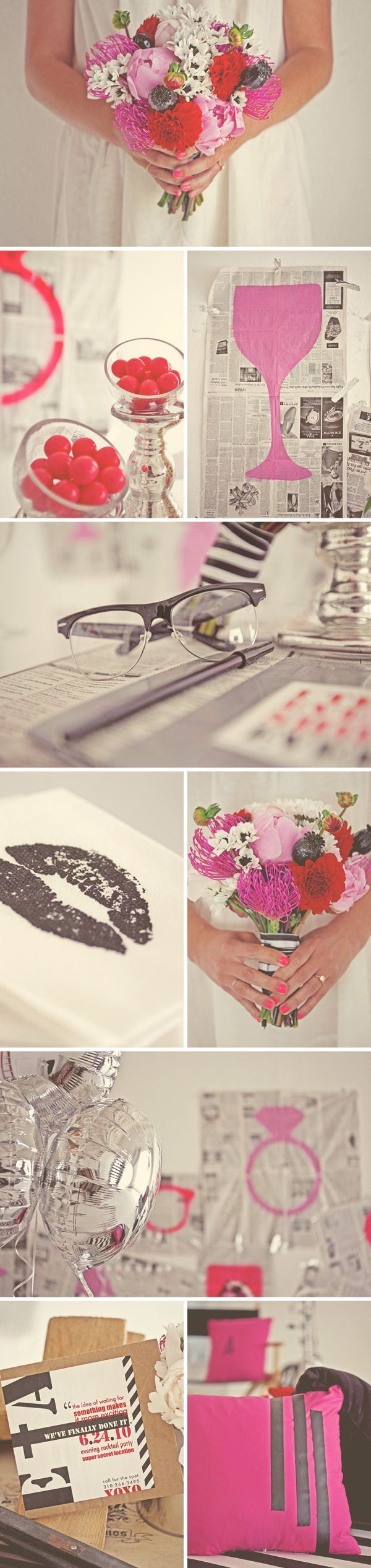 Pink Black White Wedding Inspiration