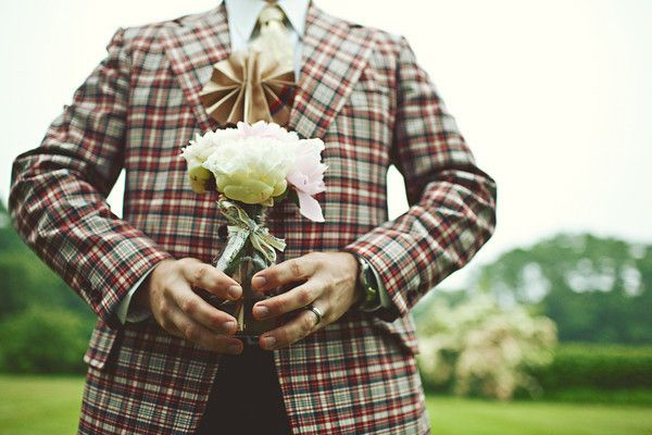 Plaid Wedding Jacket