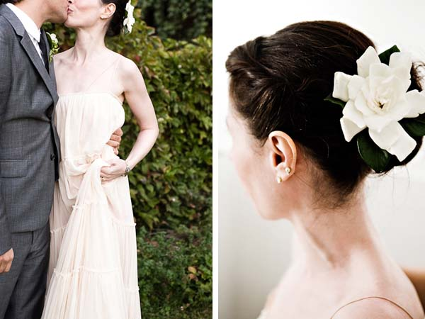 White Flower Wedding Hairpiece